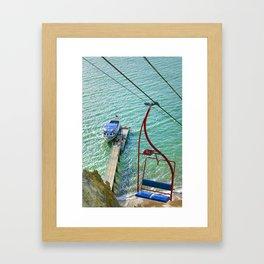 Chairlift to Alum Bay Framed Art Print