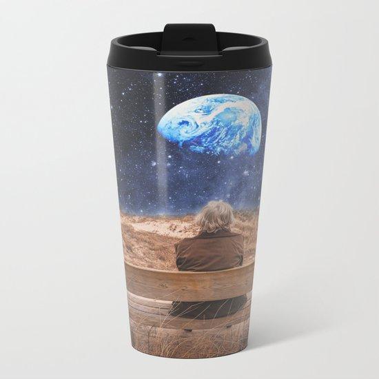 PLANET EARTH, THE UNIVERSE AND I Metal Travel Mug