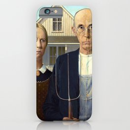 Grant Wood American Gothic iPhone Case