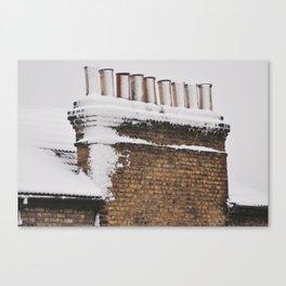 Snow Chimney Sweeps Canvas Print
