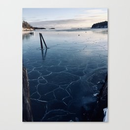 A Cold Day at the Harbor Canvas Print