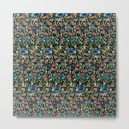 Colorful Floral Pattern Metal Print