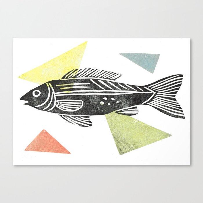 fish stamp III Canvas Print