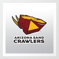 nfl Art Prints featuring Arizona Sandcrawlers - NFL by Steven Klock