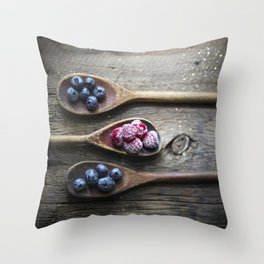Three Berry Spoons Throw Pillow