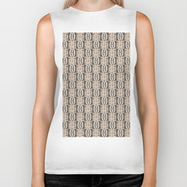 Ethnic african tribal pattern with Adinkra simbols. Biker Tank