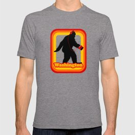 Retro Sasquatch Washington T-shirt