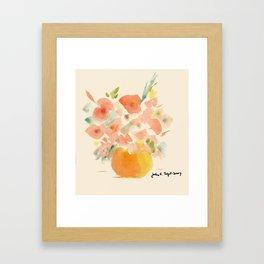 Gorgeous Poppies by artist John E. Framed Art Print