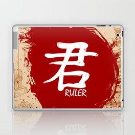 Japanese kanji - Ruler Laptop & iPad Skin