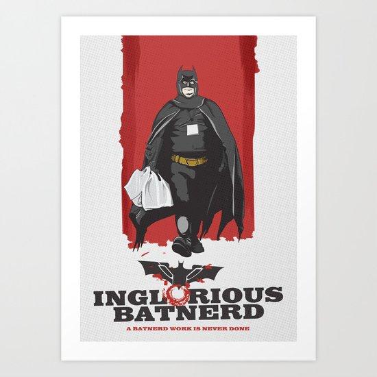 Inglorious Bat N3rd Art Print