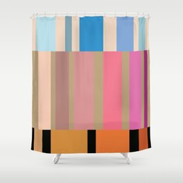 Many stripes Shower Curtain