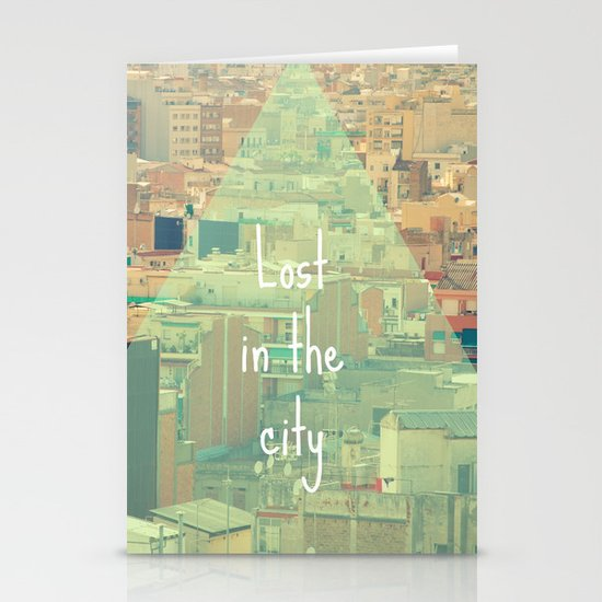 Lost in the city Stationery Cards