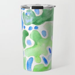 170623 Colour Shapes Watercolor 13 | Abstract Shapes Drawing | Abstract Shapes Art |Watercolor Paint Travel Mug