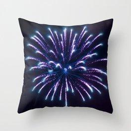 Single Firework Throw Pillow
