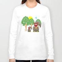kangaroo Long Sleeve T-shirts featuring Kangaroo by Design4u Studio