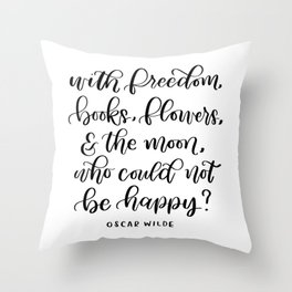 Oscar Wilde Quote Throw Pillow