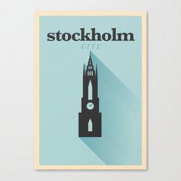 Minimal Stockholm Poster Canvas Print