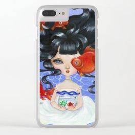 Pop-eyed Goldfish Clear iPhone Case
