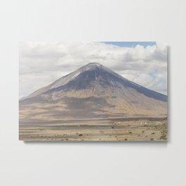 Gelai Volcano nearby Lake Natron. Metal Print