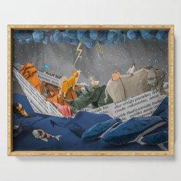 Noah's Paper Boat Serving Tray
