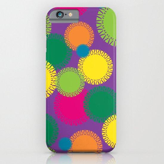 Spikey Circles Purple iPhone & iPod Case