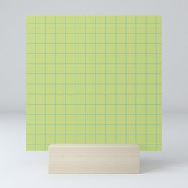 Green with Blue Lines Mini Art Print