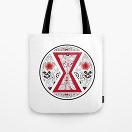 Black Widow Mandala red Tote Bag