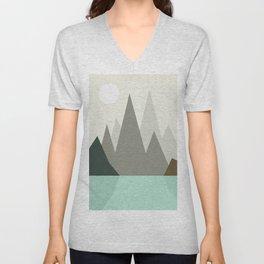 Abstract landscape VII Unisex V-Neck
