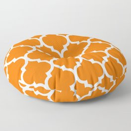 MOROCCAN ORANGE AND WHITE PATTERN Floor Pillow