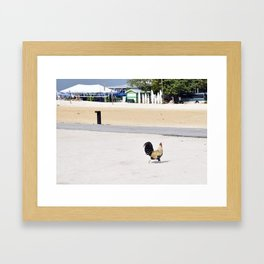 Chicken Crossing the Road Framed Art Print