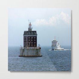 New London Ledge Lighthouse Metal Print