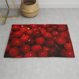 Cranberries Photography Print Rug