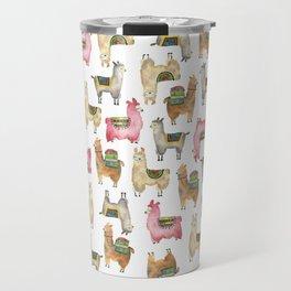 Llama love / Alpaca adventure wanderlust travel / animal baby nursery gift for her shower decor Travel Mug