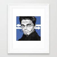 leonardo dicaprio Framed Art Prints featuring Leonardo DiCaprio by Pazu Cheng