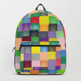 Pixelated Patchwork Backpack