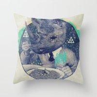 twilight Throw Pillows featuring TWILIGHT by Steven Kline