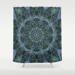 Mandala - Down The Hatch - Blue Shower Curtain