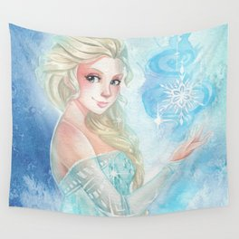 Cold never bothered me Wall Tapestry