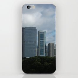Chicago Skyline, Cloudy Day in Chicago iPhone Skin