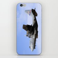 aviation iPhone & iPod Skins featuring USAF C-130 Aviation take off by Aviator