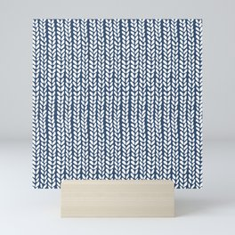 Knit Wave Navy Mini Art Print