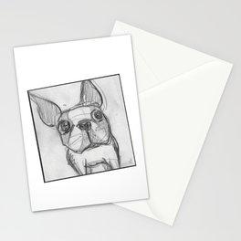 Boston terrier selfie Stationery Cards