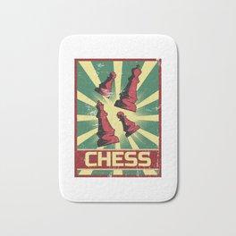 Chess Propaganda | Tactic Strategy Board Game Bath Mat