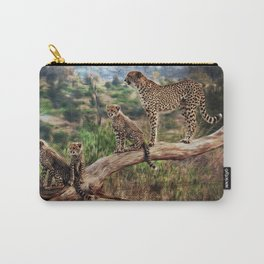 Cheetah and Cubs Carry-All Pouch