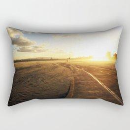 Run into the Sunset Rectangular Pillow