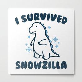 I Survived Snowzilla Metal Print