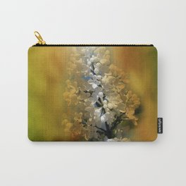 white lilac on textured background -b- Carry-All Pouch