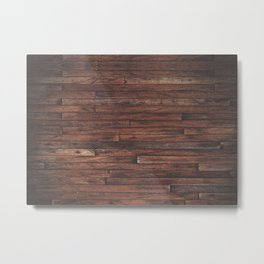 Cherry Stained Wood Barn Board Texture Metal Print