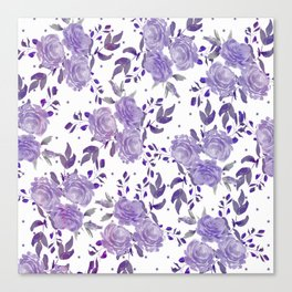 Bouquet of Purple Roses Canvas Print
