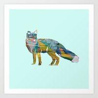 foxes Art Prints featuring Foxes by nessieness